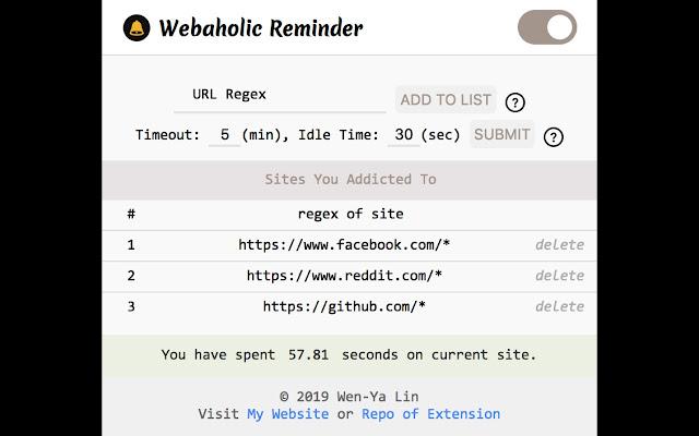Webaholic Reminder