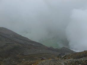 Photo: Nakadake crater - spewing and hissing
