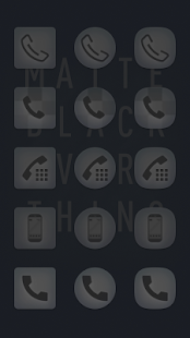 Matte Black Icon Pack Screenshot