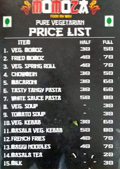 Momoza menu 1