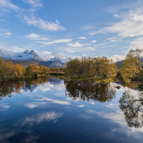Autumn by the river by Benny Høynes - Landscapes Waterscapes ( fall, waterscape, sony alpha, autumn colors, norway, river, autumn )