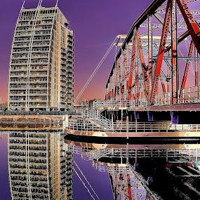 by Derek Tomkins - Buildings & Architecture Bridges & Suspended Structures ( reflection, reflections, people, places, architecture, building )
