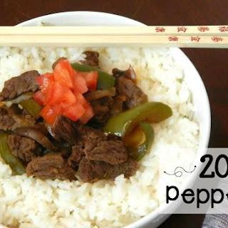 20-Minute Pepper Steak {buffet style}.