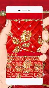 Gold Rose Keyboard - náhled