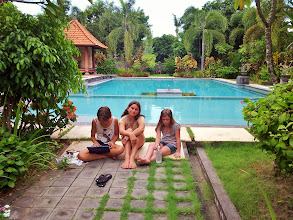 Photo: girls by the pool