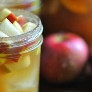 Apple Cider Sangria with Bourbon.
