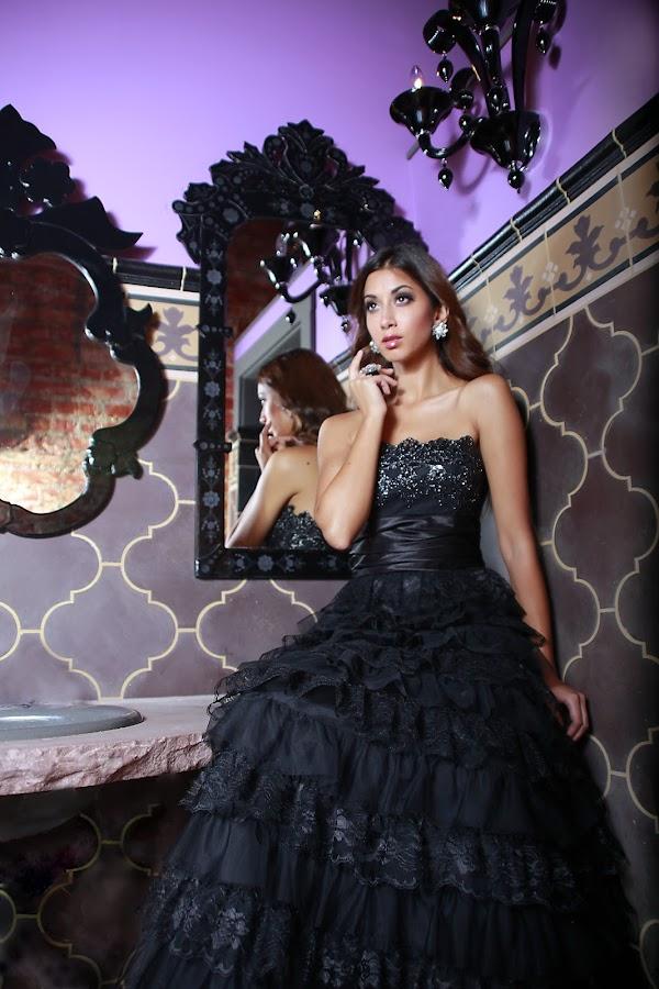 Pretty woman by Chelsie Bakken - People Fashion ( mirror, model, fashion, dress, gown, beauty )