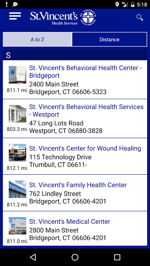 St. Vincent's Medical Center- screenshot