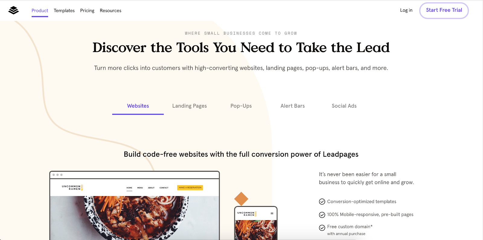 Leadpages | 10 Most Innovative Lead Generation Tools for 2019