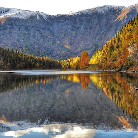 Reflections on a calm day by Patricia Phillips - Landscapes Travel ( lakes reflections alaska )