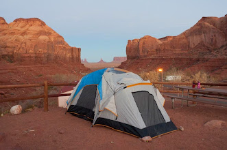 Photo: Our campsite just outside of Monument Valley Navajo Tribal Park, Arizonia and Utah, USA