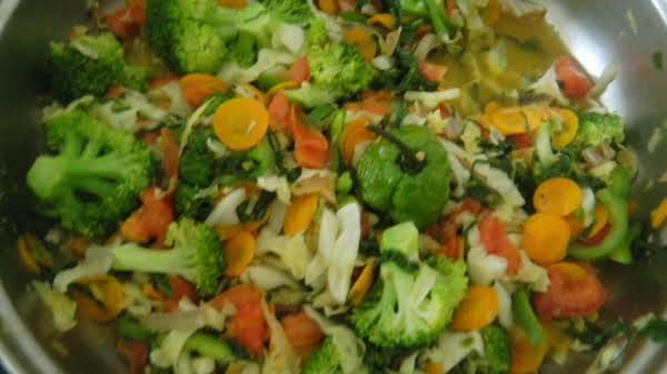Assorted Vegetables Steamed With Coconut Milk And Scotch Bonnet Peppers For Flavour