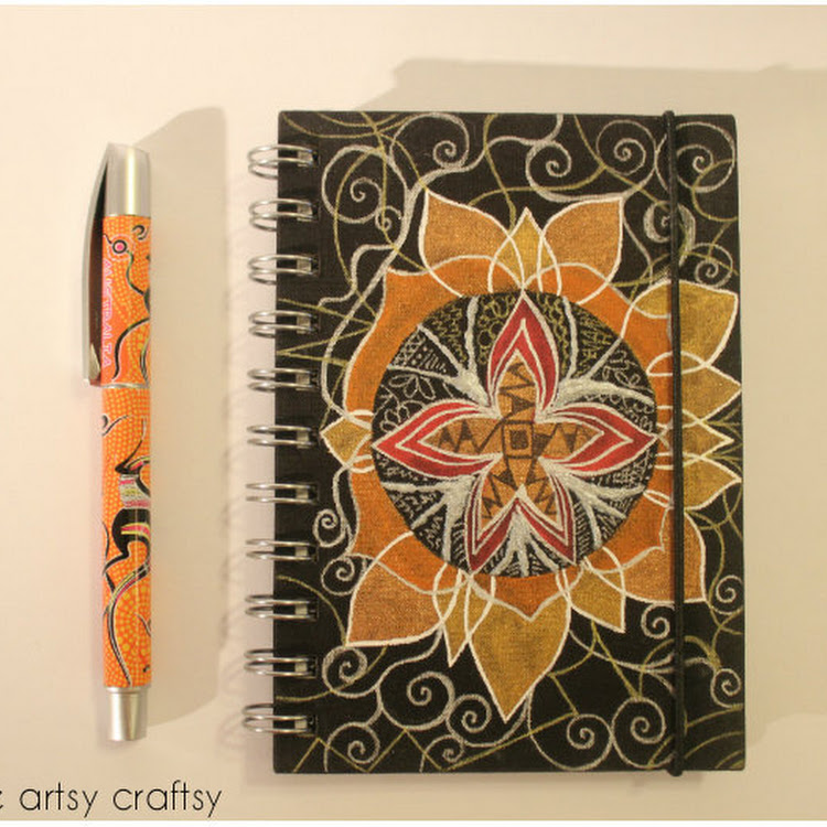 Orange Lotus - A5 notebook by The Artsy Craftsy