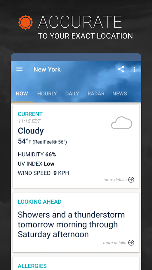 AccuWeather: Weather Tracker & Live Forecast Maps- screenshot
