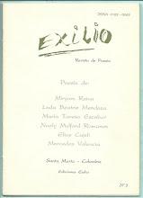 Photo: Exilio. Revista de Poesía. No. 3, Mayo 1995. Ediciones Exilio Santa Marta. Seis poetas. Edición virtual de la revista completa  (28 páginas).  Formato Gogle, pdf: https://docs.google.com/viewer?a=v&pid=explorer&chrome=true&srcid=0B-ABjQmYGMXbNGI0OWMxM2MtMzM1ZS00YjdhLTk5ZWItYzQ1MWY2MGI0YWM0&hl=en Formato ISSUU, pdf: ... Formato Scribd, pdf: ...