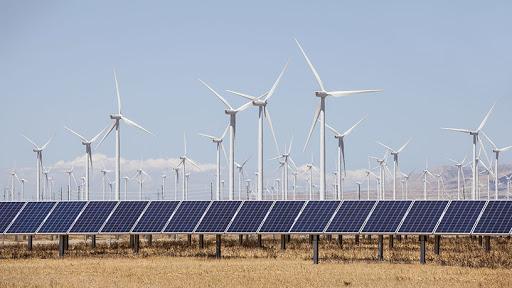 Wind mills Solar panels