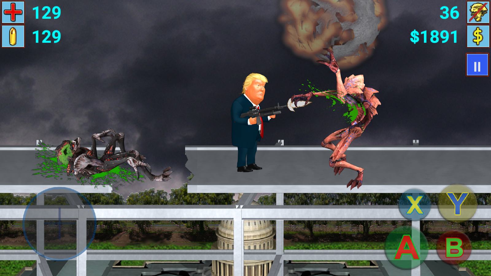 Aliens vs President(Trump) III- screenshot