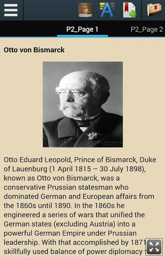 A biography of otto von bismarck a conservative prussian statesman who dominated german and european