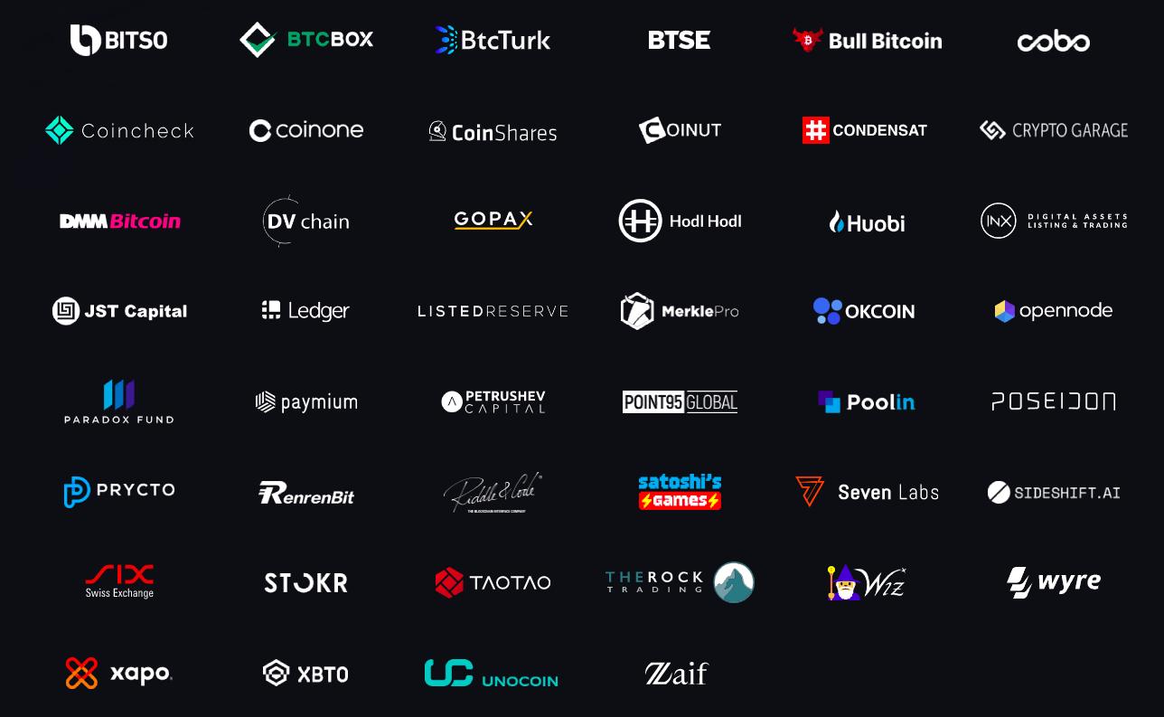 Сейчас у Liquid Network 46 партнеров.