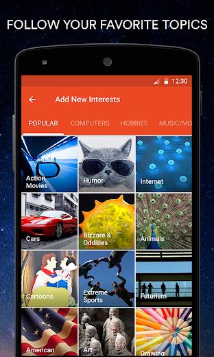 Screenshot 0 for StumbleUpon's Android app'