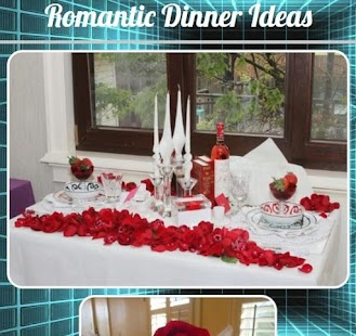 Romantické myšlenky večeře - náhled