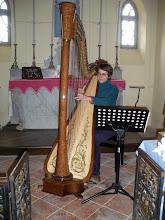 Photo: 2 février 2009 - Laura à la harpe