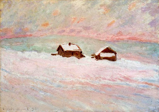 "Photo: Claude Monet, ""Case nella neve"" (1895)"