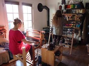 Photo: classes warping and weaving