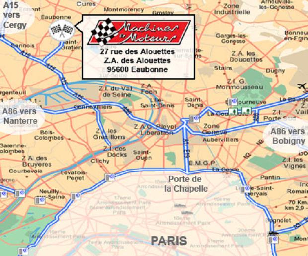 Plan pour trouver Machines et Moteurs à Eaubonne