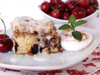 Cherry Pecan Cinnamon Roll Cake - Annette's Recipe