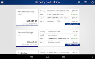 Screenshot of Sikorsky Credit Union