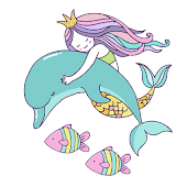 Beautiful Mermaid Keyboard Stickers for Gboard