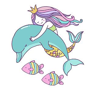 Beautiful Mermaid Keyboard Stickers for Gboard PC Download
