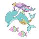 Beautiful Mermaid Keyboard Stickers for Gboard