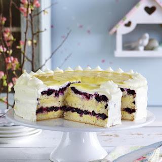 Blueberry Eggnog Cake