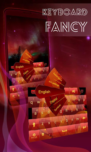 花式紅色鍵盤