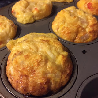 Kid Friendly Healthy Bacon, Pumpkin & Cheese Muffins.