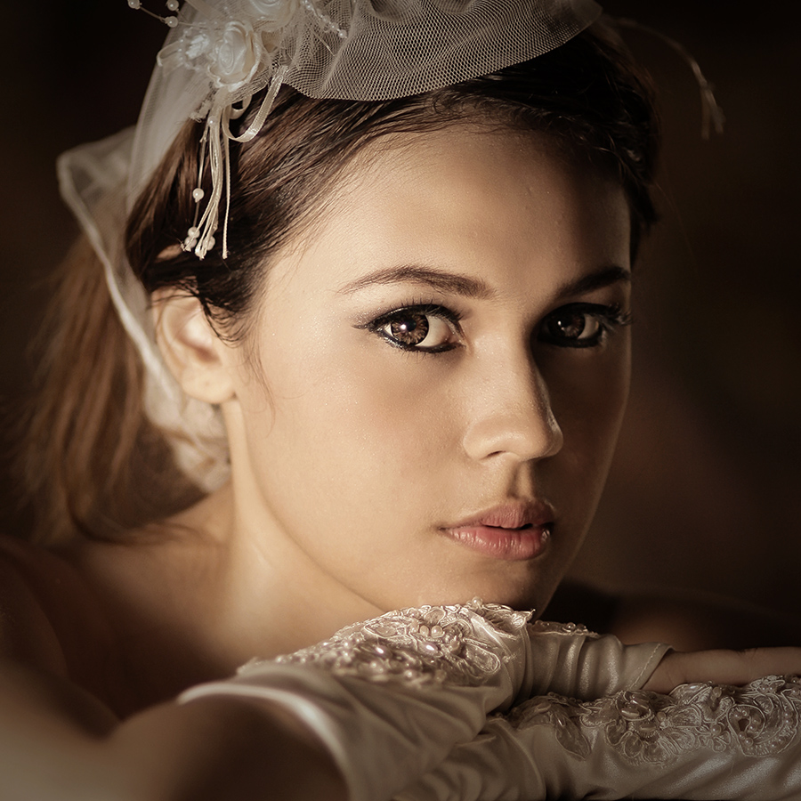 The Reluctant Bride by Lucky E. Santoso - People Portraits of Women