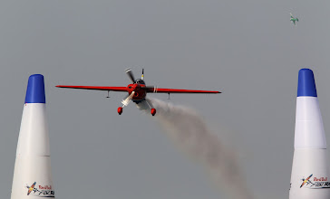 Photo: ABU DHABI, UNITED ARAB EMIRATES - MARCH 23:  Matthias Dolderer of Germany practices during the Abu Dhabi Red Bull Air Race fly in and Calibration day -4 on March 23, 2010 in Abu Dhabi, United Arab Emirates.  (Photo by Hamish Blair/Getty Images for Red Bull) *** Local Caption *** Matthias Dolderer