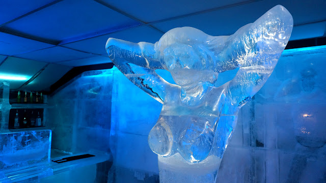 enjoy ice sculptures at the Magic Ice Bar in Oslo in Oslo, Oslo, Norway