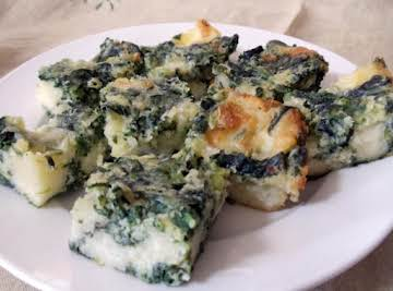 Spinach Cheese Bars