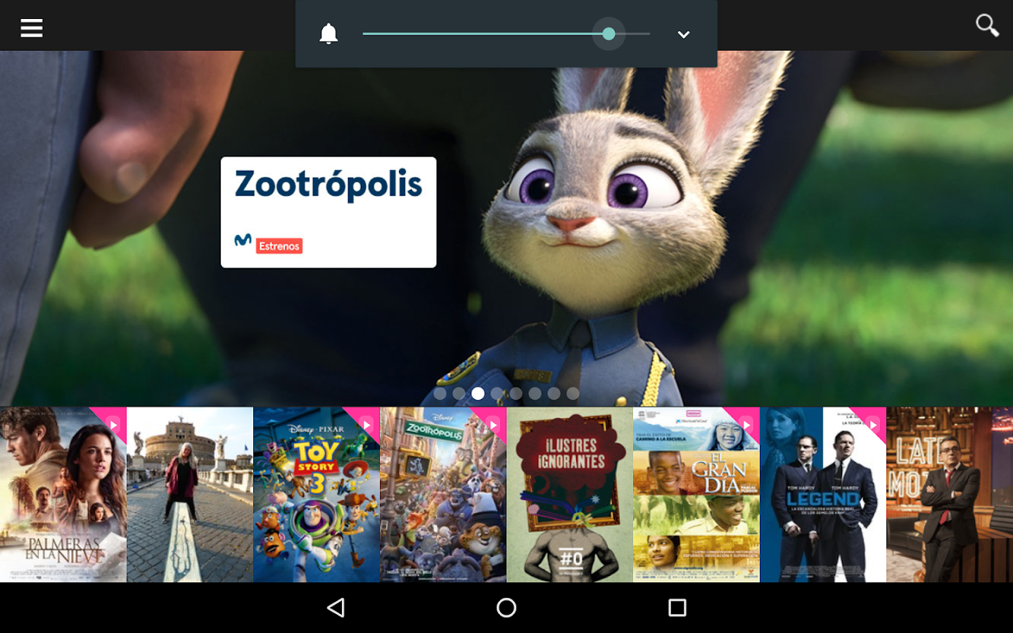 MOVISTAR+: captura de pantalla
