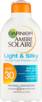 Garnier Ambre Solaire Light and Silky Sun Protection Lotion - SPF30, 200ml