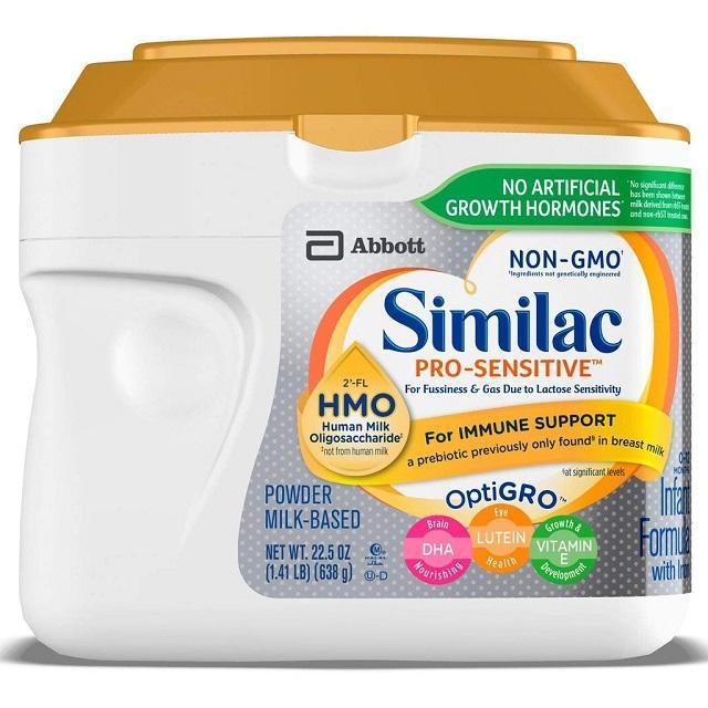 Sữa Similac Pro-Sensitive Non-GMO đến từ Mỹ đi đầu về chất lượng
