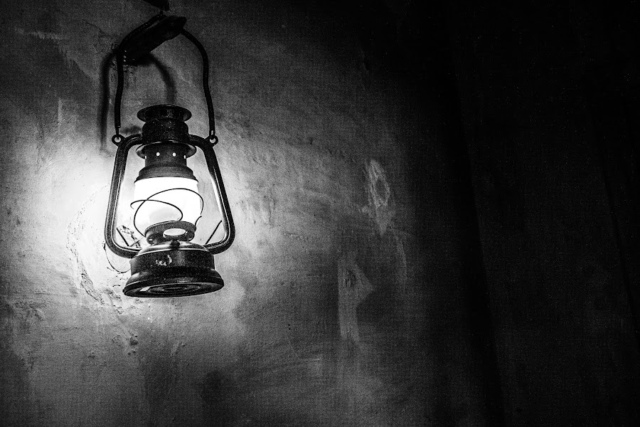 The Lantern by Ebtesam Elias - Black & White Objects & Still Life