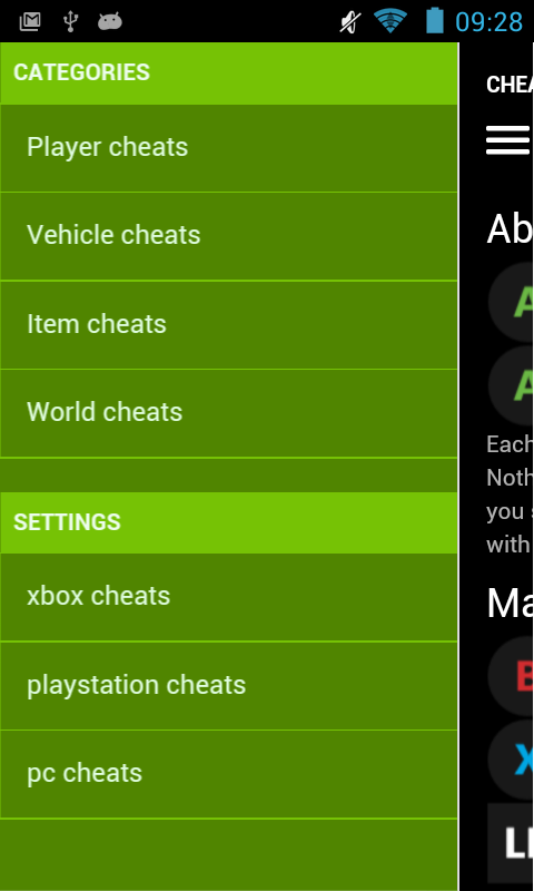 Cheat Codes for GTA V- screenshot
