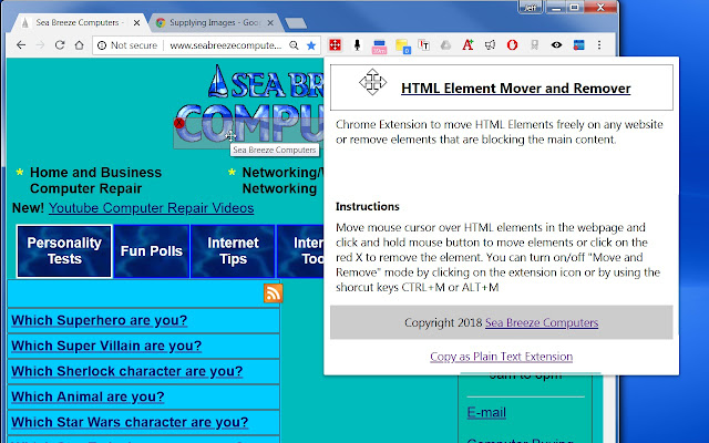 HTML Element Mover And Remover
