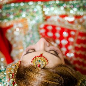 The Bride by Farrukh Saleem - Wedding Bride ( farrukh saleem, wedding photography, wedding, karachi, wedding dress, farrukh saleem photography, jewelry, wedding photographer, female photographer, wedding details )