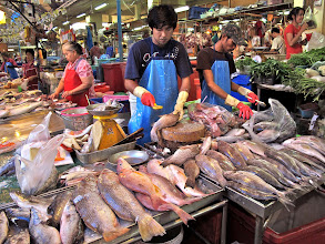 Photo: the fresh fish section of Hua Hin market