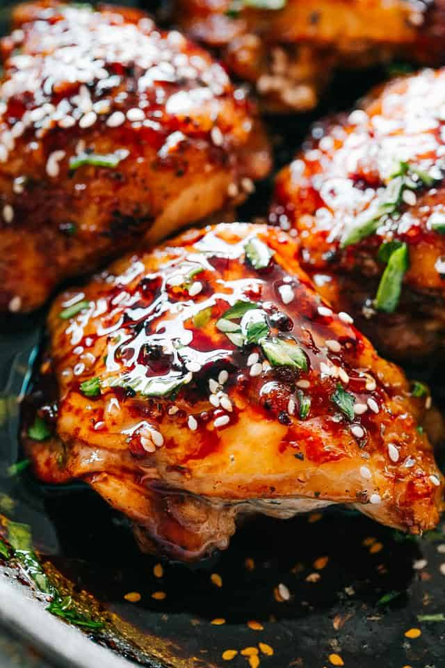 chicken pot instant sticky thighs recipe recipes easy bone delicious diethood fall cooked pressure food